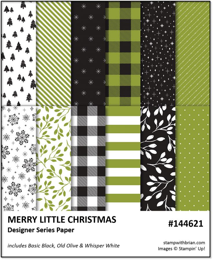 Merry Little Christmas Stampin Up Brian King 144621