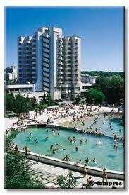 An open pool with thermal water in Oradea, Romania