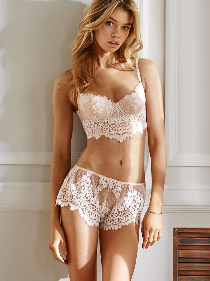 Floral Lace Short in Coconut White $39.50- Dream Angels - Victoria's Secret