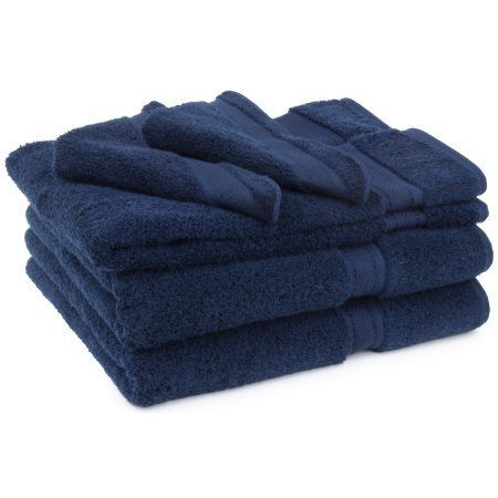 Cambridge Grand Egyptian Egyptian Cotton Towel Set (6 Pieces), Blue