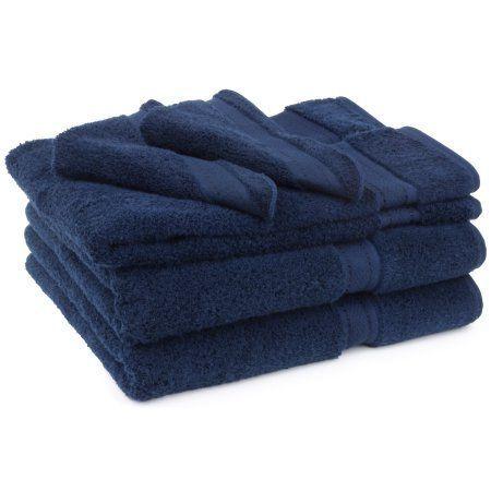 Cambridge Grand Egyptian Egyptian Cotton Towel Set (6 Pieces), Blue