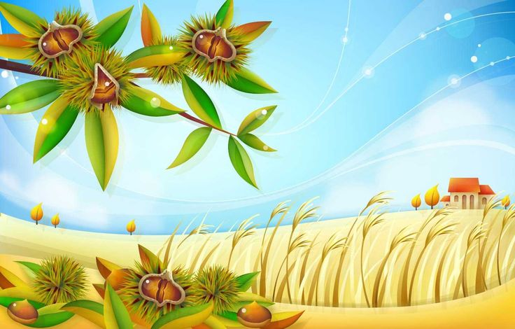 Autumn Chestnut Landscape - FREE