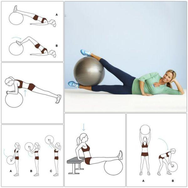 Gymnastikball Übungen - Abnehmen geht damit deutlich leichter - http://freshideen.com/trends/gymnastikball-uebungen.html
