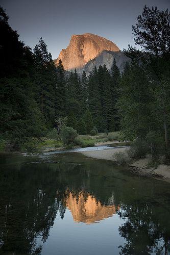 The Sunset on Halfdome, Yosemite, California