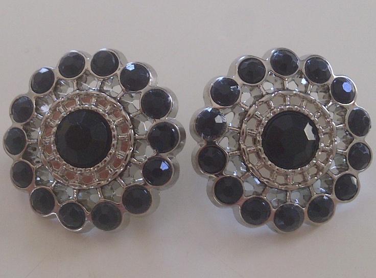 Vintage Noir Earrings by Vintage Betsy  $15.00