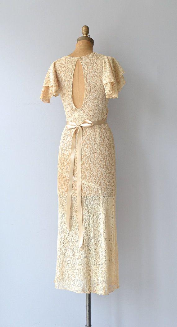Abermarle wedding gown 1930s wedding dress vintage by DearGolden