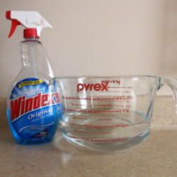 A great way to get rid of gnats on your houseplants is to mix 32 ounces of water with one squirt of Windex. Water your plants by making sure the entire soil surface is wet. It's not necessary to saturate the soil.
