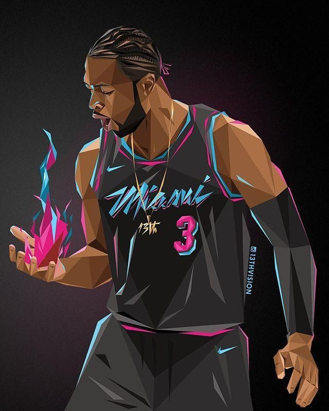 O Cara Da Rodada D Wade Por Arthur Kuo Nba Nba Pictures Nba Art Basketball Players Nba
