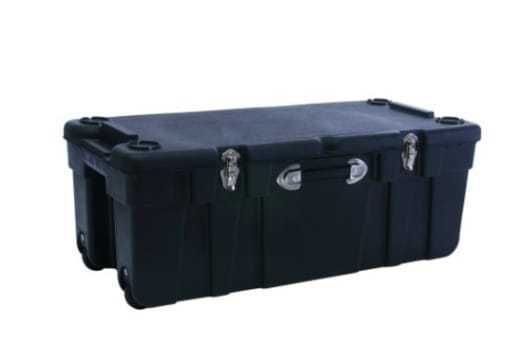 Wheeled Storage Trunk Heavy Duty Portable Box Weatherproof Locker Travel ,SIZE L #JTT