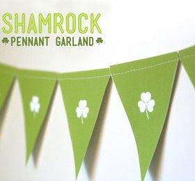 Free Printable Shamrock Garland