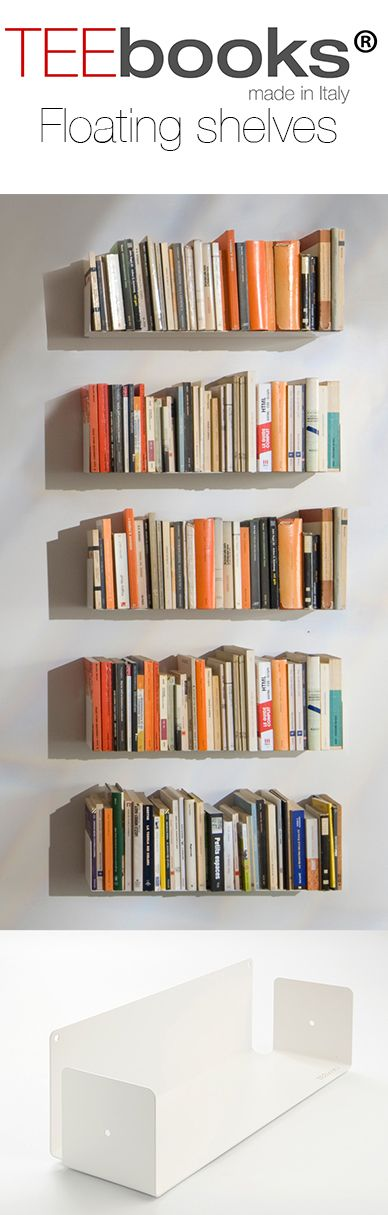 Superior Floating Shelves TEEbooks Minimalist Design That Makes Your SHELVES  DISAPPEAR ! Gallery