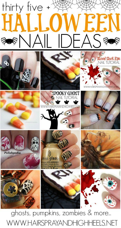 Halloween Nail Tutorials - Hairspray and Highheels