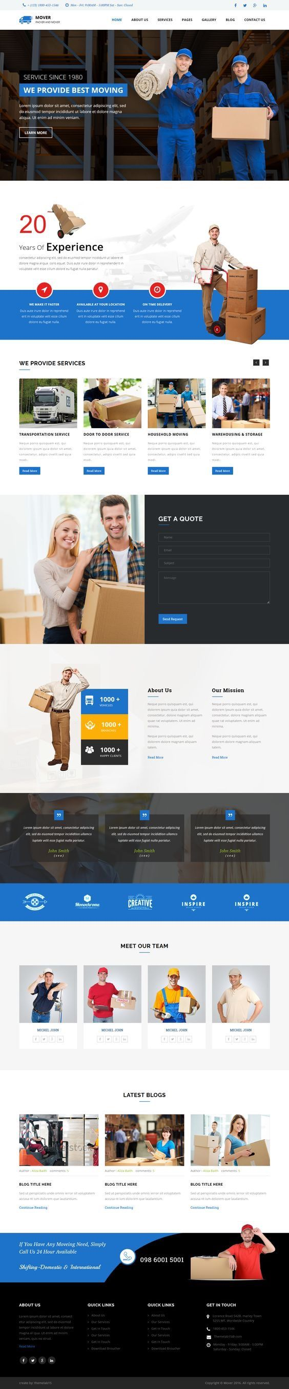 Movers - Company HTML Template. Download: https://themeforest.net/item/movers-company-html-template/16391694?ref=skarin