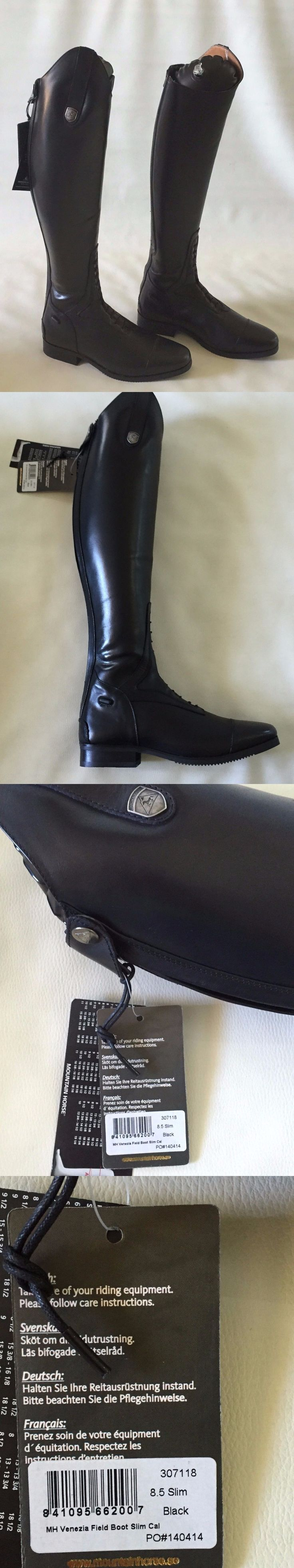 Tall Riding Boots 183382: New Mountain Horse Venezia Field Boots Ladies Sz 8.5 Slim Calf, Black -> BUY IT NOW ONLY: $126.6 on eBay!