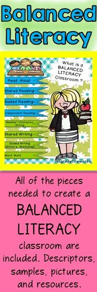 B/W Assessment printables, centers, minilesson suggestions, etc. Color Printables for creating BINDER dividers .https://www.teacherspayteachers.com/Product/What-is-a-BALANCED-LITERACY-classroom-1776415