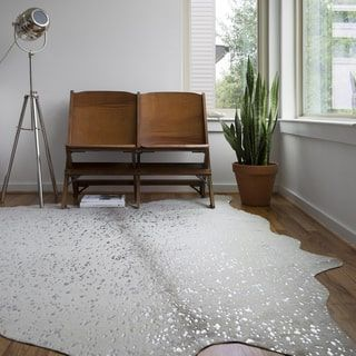 Shop for Clayton Stone/ Silver Faux Cowhide Rug (5' x 6'6). Get free shipping at Overstock.com - Your Online Home Decor Outlet Store! Get 5% in rewards with Club O! - 22898148