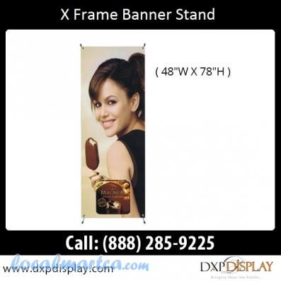 Low Price Adjustable X Frame Banner Stand + Print + Carrying Case!! #0