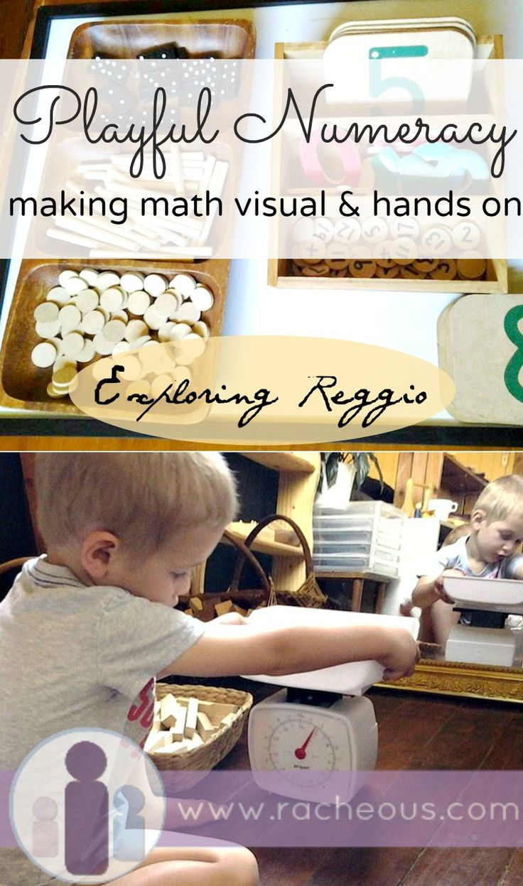 Playful Numeracy - make math visible and hands on | Exploring Reggio via Racheous - Lovable Learning