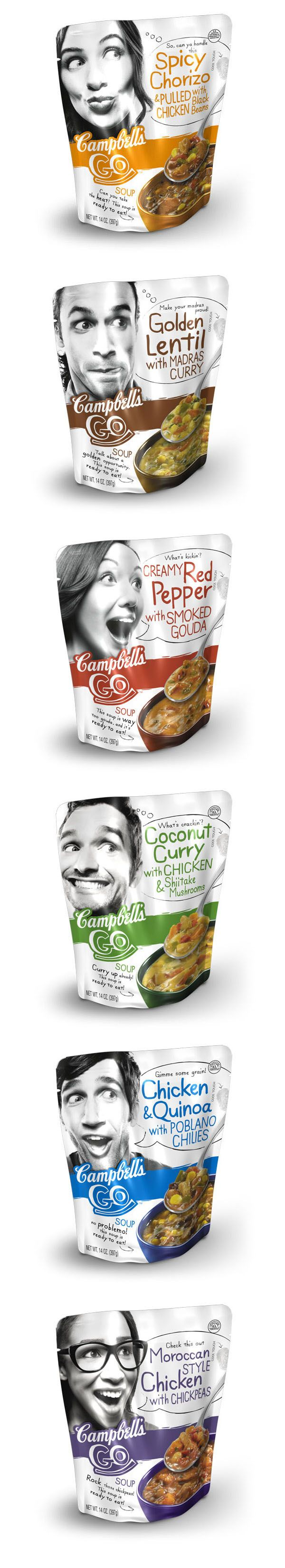 Campbell's GO! Soup -- interesting that they're targeting millennials with soup. Does this new packaging make you want to dig right in?