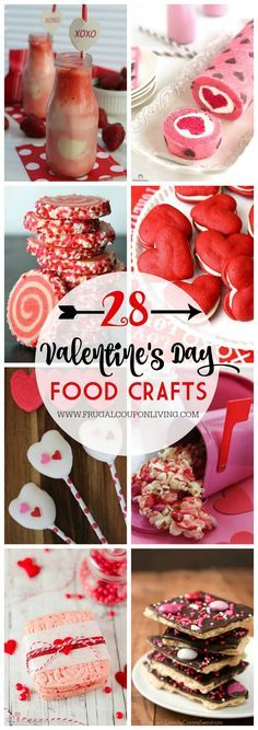 28 Days of Kid's Valentine's Day Food Crafts on Frugal Coupon Living.  Take a look at these Kid's Food Crafts for great Valentines' Day Party Ideas.