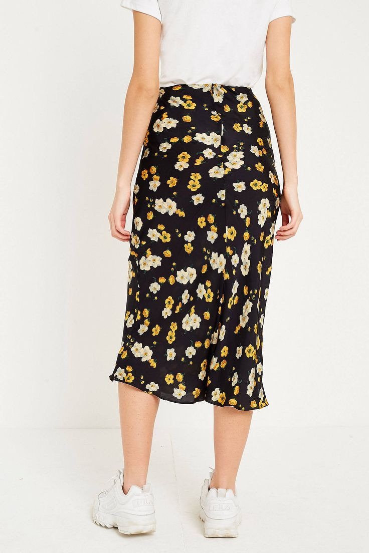 Shop UO Daffodil Satin Midi Skirt at Urban Outfitters today. We carry all the latest styles, colours and brands for you to choose from right here.