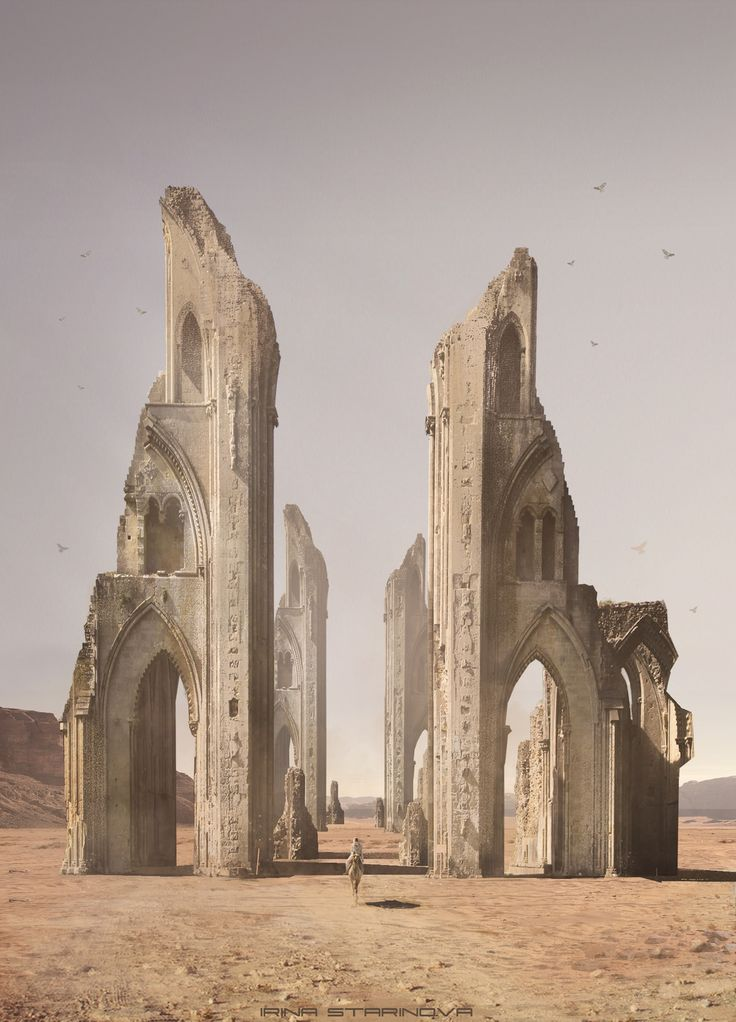 Deserted temple, Irina Starinova on ArtStation at https://www.artstation.com/artwork/NZ8X5