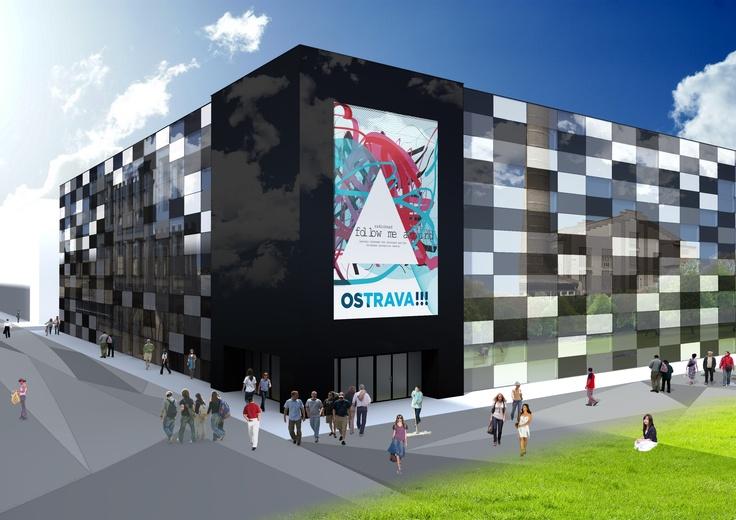 concept of Modern Music Center, Ostrava - Svinov / Zbyszek Sikora, bachelor diploma project, FAST VŠB Ostrava 2012