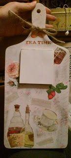 Świeczki handmade: Deseczko-notatnik :)