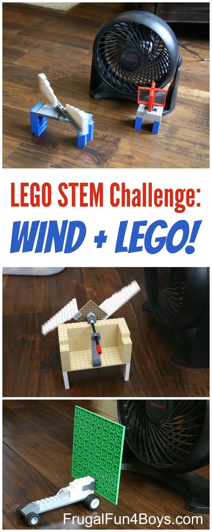 LEGO STEM Challenge: Wind Powered LEGO Contraptions! How to build working windmills and more.