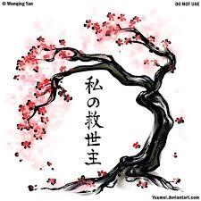 Resultado de imagen para arbol de cerezo dibujo