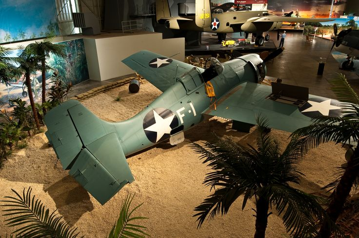 F4F-Wildcat is shown here as it would have been at an air base in World War II in the Pacific if it was flying for the Marines. If it was off of the carriers it would have been on deck. Either way this can be seen at the Pacific Aviation Museum in Honolulu Hawaii.