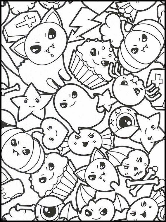 Kawaii 24 Ausmalbilder Fur Kinder Malvorlagen Zum Ausdrucken Und Ausmalen Malvorlagen Zum Ausdrucken Kawaii Zeichnungen Ausmalbilder
