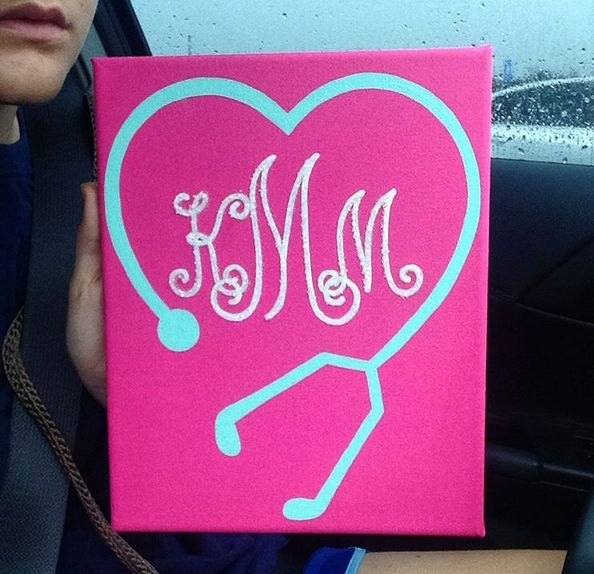 #Monogram #Canvas #Painting #Nurse
