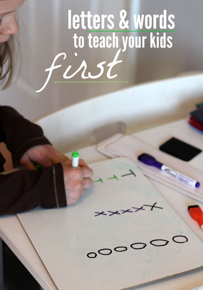 First Steps to Writing: where do you think is a good place to start with writing? Which letters or words should they learn first?