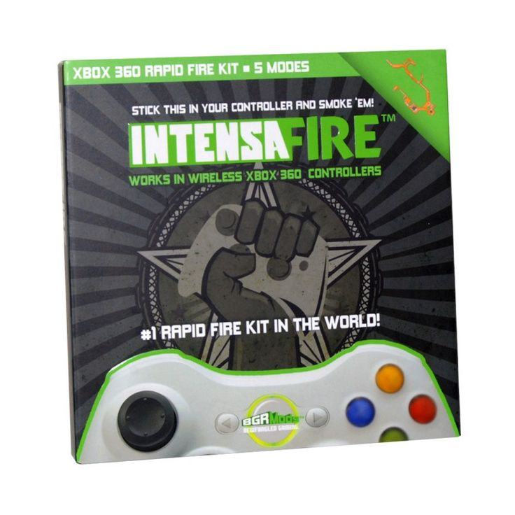 Intensafire, rapid fire mod for XBox 360 wireless game pad v3.0