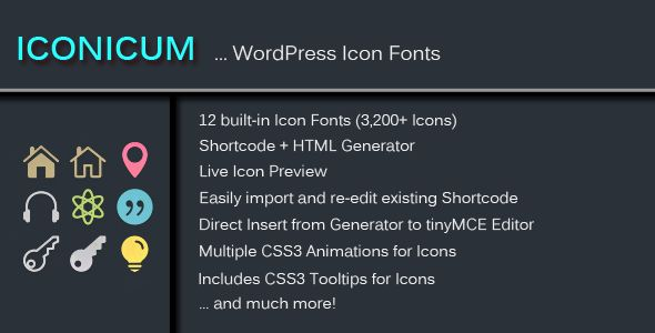 Iconicum - WordPress Icon Fonts