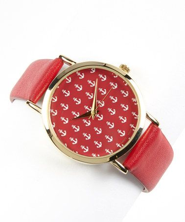 Red & White Anchor Watch