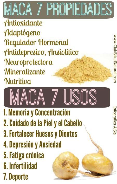 Maca Andina 7 Propiedades 7 Usos - Club Salud Natural #maca