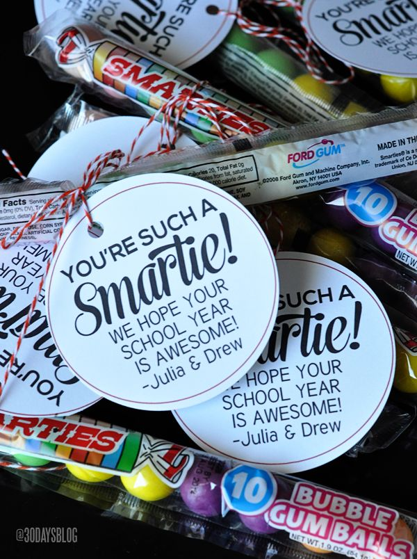 You're such a smartie printable favor  - fun idea for back to school party!