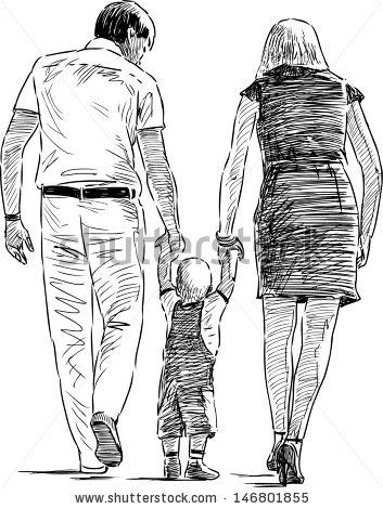 Young Family Stock Vector 146801855 : Shutterstock