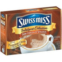 Swiss Miss Indulgent Collection Dark Chocolate Sensation: Neil's favorite hot cocoa mix. (Allegedly as much antioxidant as two cups of green tea and twice as much cocoa as regular Swiss Miss.)