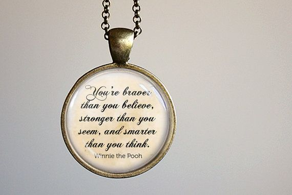 Winnie the Pooh Quote Necklace - Pooh Jewelry