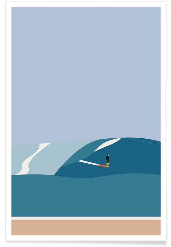 Fornøjelse Surf No. 03 en Affiche premium par Swen Swensøn   JUNIQE