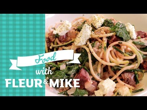 Courgetti Spaghetti with Beetroot, Spinach and Goats Cheese | Fleur & Mike - YouTube
