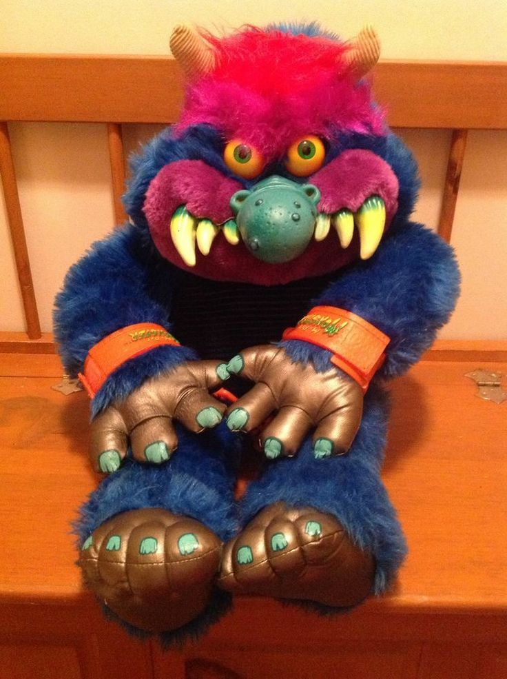 my pet monster stuffed animal | Vintage 1986 My Pet Monster Stuffed Animal Toy Amtoy Handcuffs RARE ...