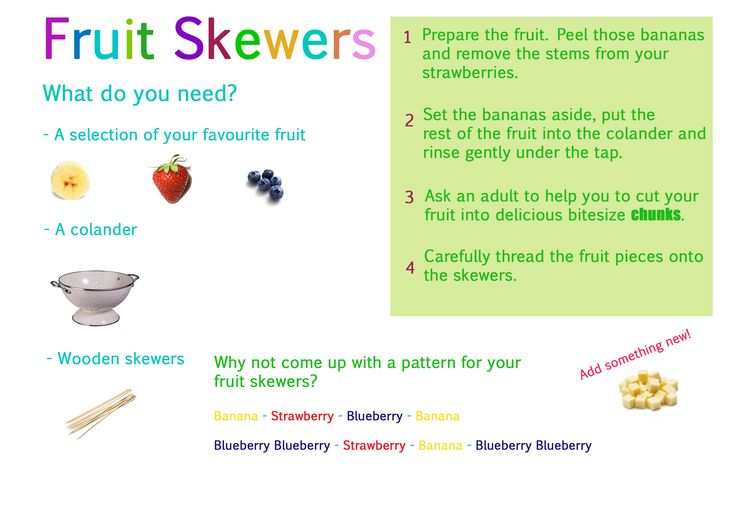Simple fruit skewers recipe for use with little ones ...