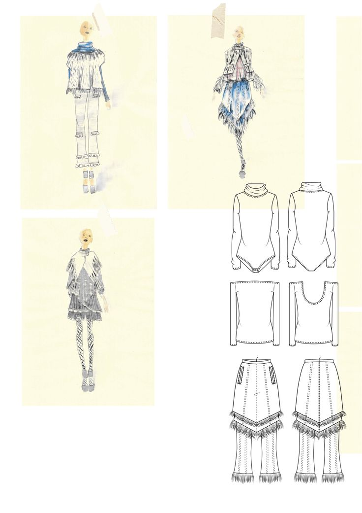 Fashion Sketchbook - fashion illustrations; fashion student portfolio // Florence Bourne Orme