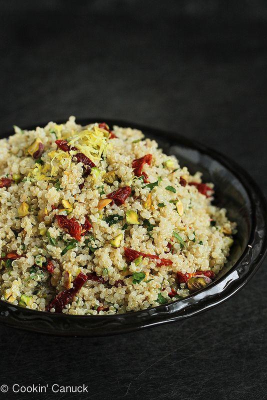 Lemon Quinoa Salad with Pistachios #recipe from @cookincanuck