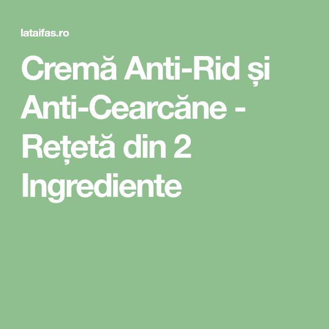 Cremă Anti-Rid și Anti-Cearcăne - Rețetă din 2 Ingrediente