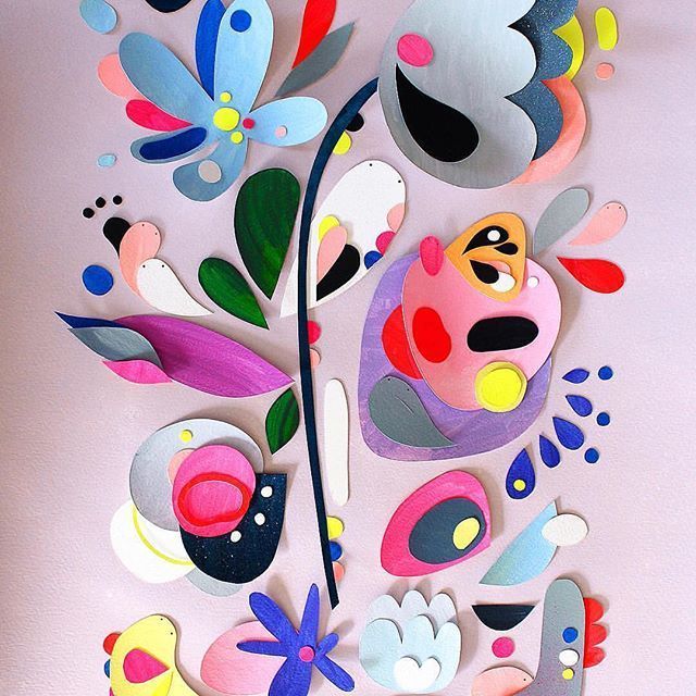 Inspiration from talented collage artist Pete Cromer who makes incredible colourful scenes just using paper | flowers | evening fey | creative life happy life | art